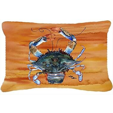 Highland Dunes Burgett Crab Rectangular Orange Indoor/Outdoor Throw Pillow