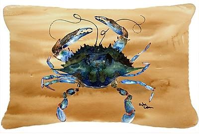 Highland Dunes Burgett Crab Nautical Rectangular Indoor/Outdoor Throw Pillow