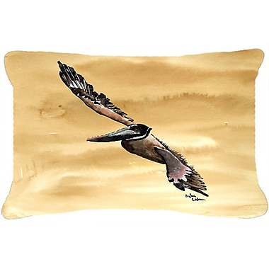 Highland Dunes Burgett Bright Green Blue Crab Indoor/Outdoor Throw Pillow