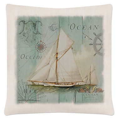 Highland Dunes Busch Coastal Collage Throw Pillow