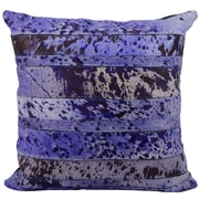 Loon Peak Cozette Natural Leather Hide Throw Pillow; Purple