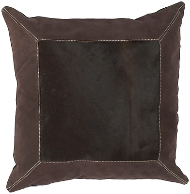 Loon Peak Calgary Bold Hide Throw Pillow; Polyester