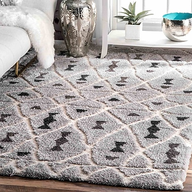 Ivy Bronx Domingues Gray Area Rug; 5'3'' x 7'6''