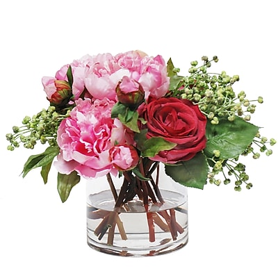 Jane Seymour Botanicals Peony and Rose Bouquet