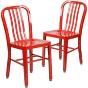 Latitude Run Belville Metal Side Chair (Set of 2); Red