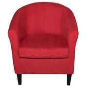 Latitude Run Thurmond Solid Wood Armchair; Red
