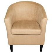 Latitude Run Thurmond Solid Wood Armchair; Beige