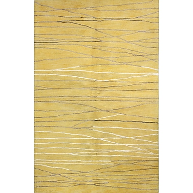 Latitude Run Dillwyn Hand-Tufted Gold Area Rug; 8'6'' x 11'6''