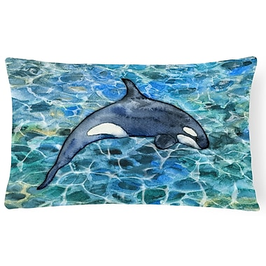 Latitude Run Claredon Killer Whale Orca Lumbar Pillow
