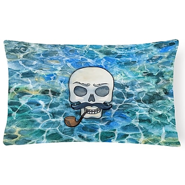 Latitude Run Clendon Skeleton Skull Pirate Lumbar Pillow