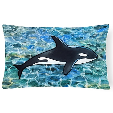 Latitude Run Cloverdale Killer Whale Orca Lumbar Pillow