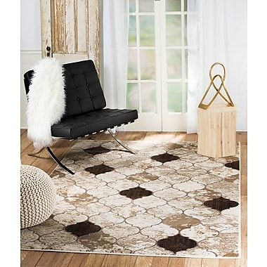Mercer41 Tilbury Glamour Taupe Area Rug; 2' x 3'