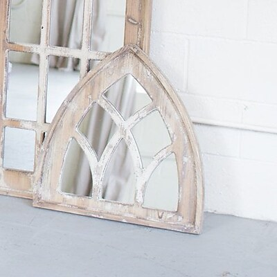 One Allium Way Church Wood Framed Accent Mirror