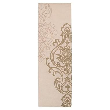 Ophelia & Co. Gardiner Modern Classics Ivory/Beige Area Rug; Runner 2'6'' x 8'