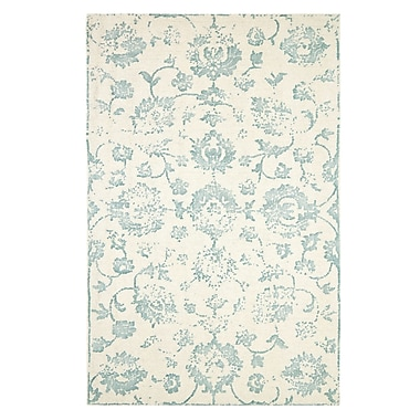 Ophelia & Co. Gerry Hand-Woven Beige/Green Area Rug; 2' x 4'