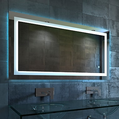 Orren Ellis Contemporary Illuminated LED Bathroom Mirror; 27.5'' H x 48'' W x 1.25'' D