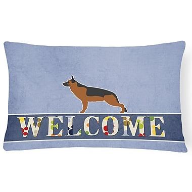 Red Barrel Studio Douglas German Shepherd Welcome Lumbar Pillow