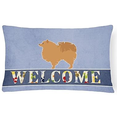 Red Barrel Studio Duprey Pomeranian Welcome Lumbar Pillow