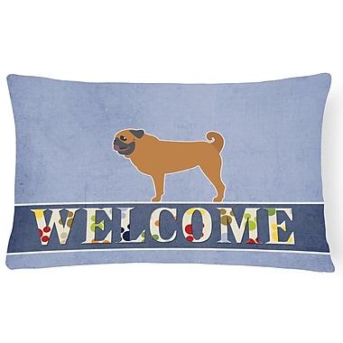 Red Barrel Studio Eagan Pug Welcome Lumbar Pillow