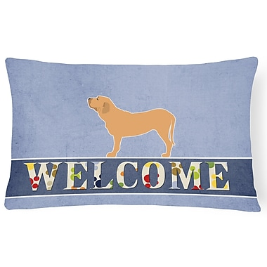 Red Barrel Studio Dansville Fila Brasileiro Welcome Lumbar Pillow
