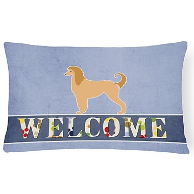 Red Barrel Studio Hammersdale Afghan Hound Welcome Lumbar Pillow