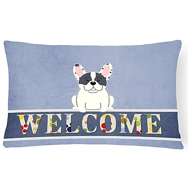 Red Barrel Studio Harshaw French Bulldog Welcome Lumbar Pillow