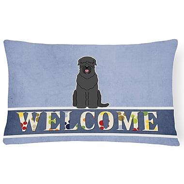 Red Barrel Studio Hausmann Russian Terrier Welcome Lumbar Pillow