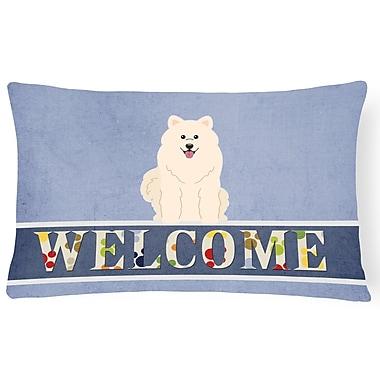 Red Barrel Studio Hayner Samoyed Welcome Lumbar Pillow