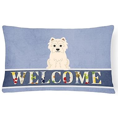 Red Barrel Studio Hendrickson Westie Welcome Lumbar Pillow