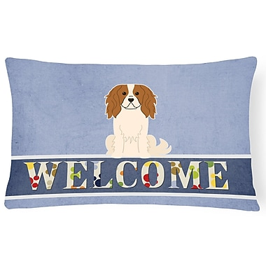 Red Barrel Studio Krueger Cavalier Spaniel Welcome Lumbar Pillow