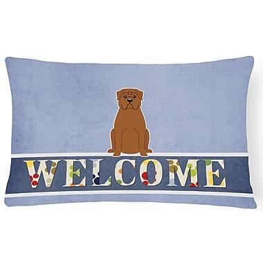 Red Barrel Studio Lamberth Dogue De Bourdeaux Welcome Lumbar Pillow