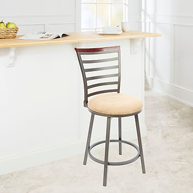 Red Barrel Studio Branchdale 24'' Swivel Bar Stool; Tan