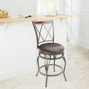 Red Barrel Studio Twinbrook 24'' Swivel Bar Stool; Espresso