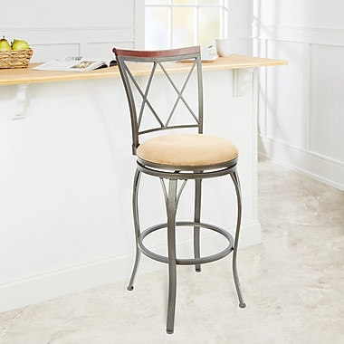 Red Barrel Studio Utica 29'' Swivel Bar Stool; Tan