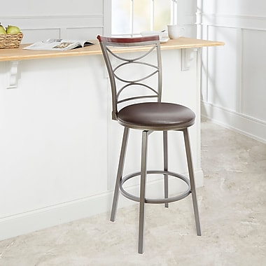 Red Barrel Studio Verona 29'' Swivel Bar Stool; Espresso
