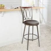Red Barrel Studio Wadsworth 29'' Swivel Bar Stool; Espresso