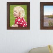 Red Barrel Studio Rectangle Picture Frame (Set of 12); Driftwood Espresso