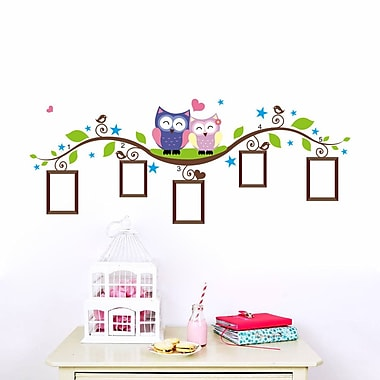 RetailSource Branch of Frames and Owls Wall Decal