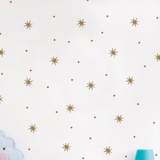 SimpleShapes Star Dot Wall Decal; Gold Metallic