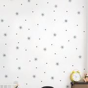 SimpleShapes Star Dot Wall Decal; Silver Metallic