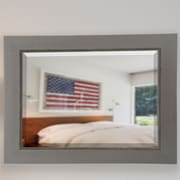 17 Stories Contemporary Silver Body Mirror; 35'' H x 41'' W x 0.75'' D