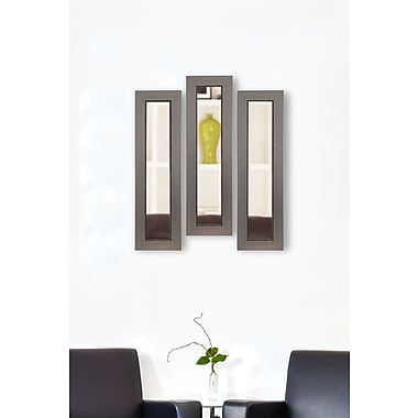17 Stories Contemporary Rectangle Panel Mirror (Set of 3); 29'' H x 11'' W x 0.75'' D