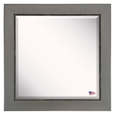 17 Stories Contemporary Silver Wall Mirror; 35 x 35