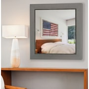 17 Stories Contemporary Panel Mirror; 21'' H x 21'' W x 0.75'' D
