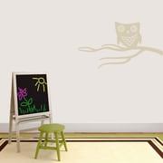 SweetumsWallDecals Cute Owl on Branch Wall Decal; Light Beige