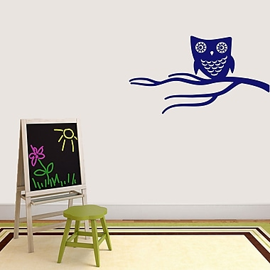 SweetumsWallDecals Cute Owl on Branch Wall Decal; Navy