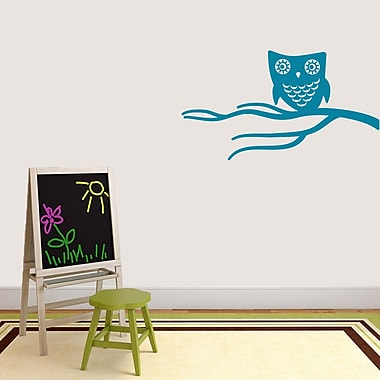 SweetumsWallDecals Cute Owl on Branch Wall Decal; Teal