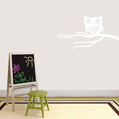 SweetumsWallDecals Cute Owl on Branch Wall Decal; White