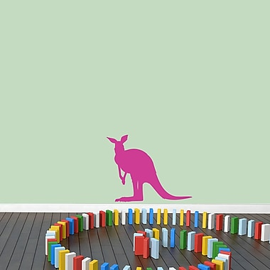 SweetumsWallDecals Kangaroo Silhouette Wall Decal; Hot Pink