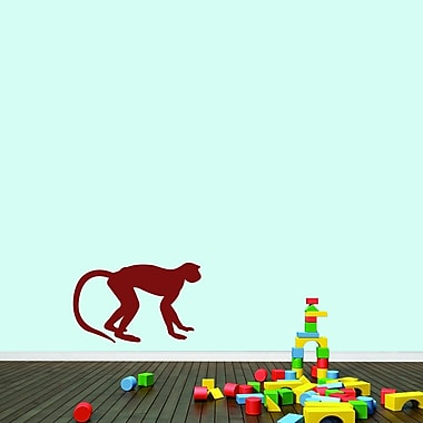 SweetumsWallDecals Monkey Wall Decal; Cranberry